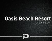 Oasis Beach Resort Logo and Branding