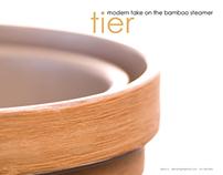 Tier . Space-Saving Bamboo Steamer
