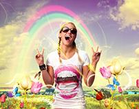 Tomorrowland festival - T-shirt advertisement