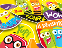 wendys - back to school stickers