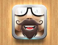 Beard & mustache icon