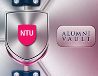 NTU Alumni Vault - iPhone app design