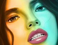 Beautiful woman Digital Painting