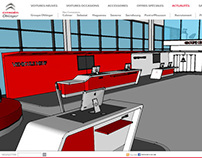 Web Interface & design for a Citroën Group