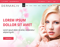 Dermaliv e-Commerce Mock Up Design