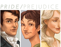 Jane Austen Game - Character Illustrations