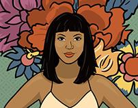 Dala and Flowers