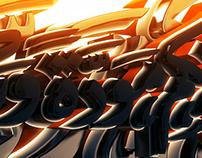 3d islamic calligraphy