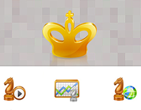 icon design for chess king