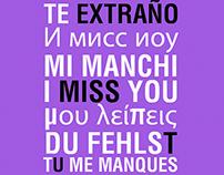 TE EXTRAÑO | I MISS YOU