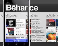 Behance Windows Phone Concept App