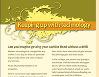 A+ Family Dentistry Trifold Brochure Newsletter