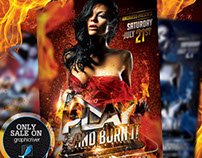 Play And Burn It Flyer Template