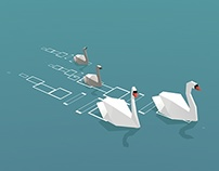 Low Poly Swans