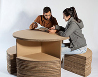 Recyclable PLV table (EASD Soria)
