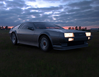 DeLorean DMC-12 my first automotive render... ;.)