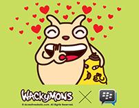 Wackymons in Love X BBM Blackberry Messenger