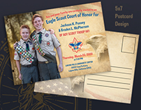 Eagle Scout Court of Honor :: 5 x 7 Postcard