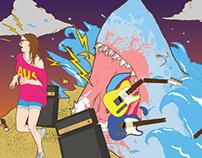 Billabong X Maverick (JRL Stage Banner Illustration)