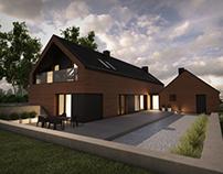 House in Lusówko, Poland