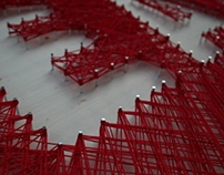 Eames String Art Typography