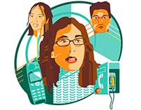 Podcast Portraits for Stuff Magazine
