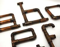 Atomic 29 Sculptural Letterforms