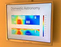Temperature Visualization for Domestic Astronomy