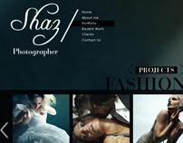 Shaz Photographer website design