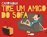 Tire um amigo do sofá