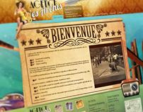 """Maquette du site """"Les Archis"""""""