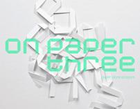 On Paper Three