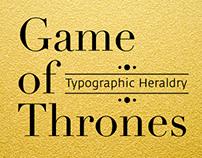 Game of Thrones: typographic heraldry