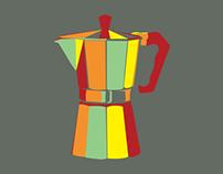 Espresso Percolator Textile Design