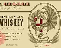 St. George Spirits Illustrated Labels....