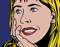 Pop-art style illustrations