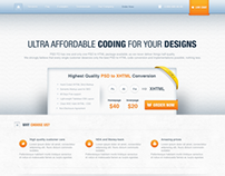 PSD to HTML Website