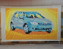 Post-it Art VW 6