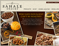 Retail Site for All-Natural Gourmet Snacks