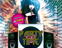Party Time Flyer Template Design