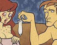Illustrations for Men's Health magazine
