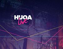 HUQA Live - Visual Identity Design