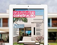 Revista Arquitetura & Construção no Tablet