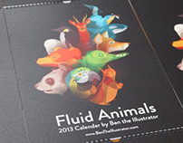 Fluid Animals 2013 Calendar