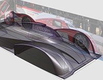 Toyota TS030 Race Car Performance Simulation