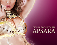 "Poster for dance school ""Apsara"""