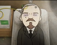Cartoon about russian communist Zuganov