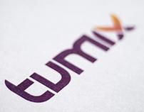 "Development of the font. Logotype ""tumix"""