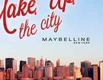 Make Up the city. Maybelline. New York.