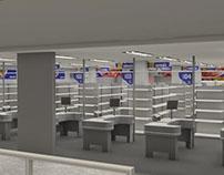 Sinalização em 3D   Rio grande Supermercados